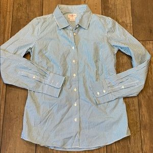 JCrew Haberdashery Gingham Button Front Shirt XS